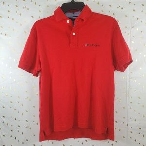 Tommy Hilfiger Red Polo Mens Size S Small